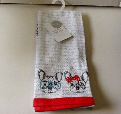 French Bulldog Hand / Dish Towels 2 Different Towels