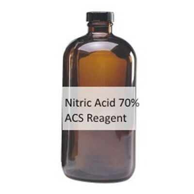 Nitric Acid 70% ACS Reagent 500ML 16oz Aqua Fortis Azotic Acid CAS # 7697-37-2