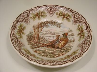 """New The Victorian's English Pottery Woodland 9"""" Serving Bowl Pheasant Bird"""
