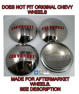 Chevrolet 1/2T Truck Hubcap Set 4 Stainless 1947-1953 (Fits Ford Wheel 1940-56)