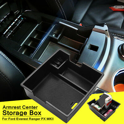 Armrest Center Console Storage Box Tray Fit For Ford Everest Ranger PX MKII