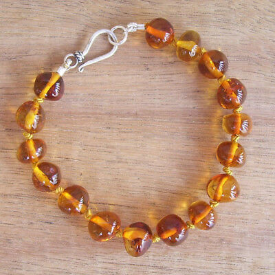 EXCLUSIVE - GENUINE BALTIC AMBER BRACELET COGNAC ADULT Jewellery Beads FREE POST