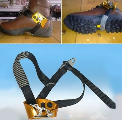 Right Foot Ascender Climbing Riser Rock Mountaineering Foot Rope Gear Tool