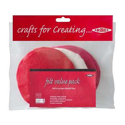 ARBEE  FELT VALUE PACK- PRE -CUT - ROUND 10 cm - 36 PCS