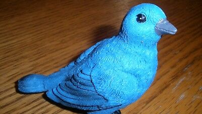 Blue Bird of Happiness Figurine Garden Potted Plant Decor