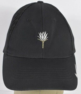 Black Nike Golf Brand Flower Logo Course Embroidered Baseball Hat Cap Fitted