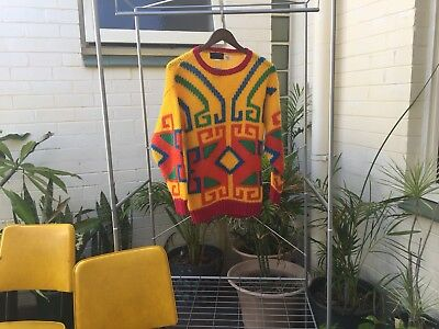 Vintage Marco Polo Hand Knitted Sweater Jumper Retro