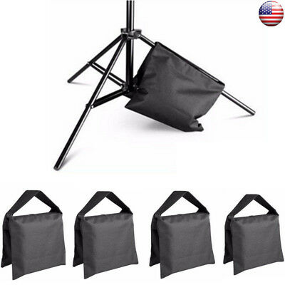 Black 4Pcs Photographic Weight Sand Bag for Photo StudioVideo Light Stand Tripod