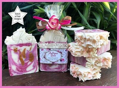 ANTIQUE ROSE HANDMADE CP SOAP - approx 150g !