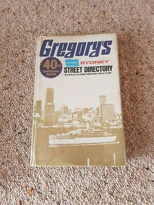 Gregory's 40th Anniversary Edition Sydney Street Directory