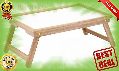 WINSOME WOOD BED Tray Legs Foldable Handle Breakfast Top Curved ...