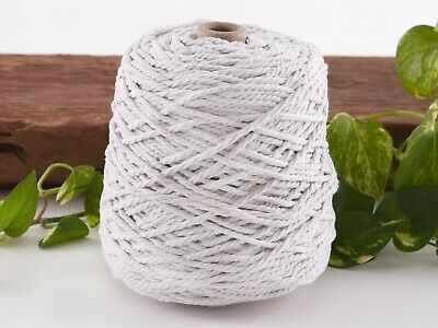 4mm white macrame rope coloured 3ply cotton cord string strand twisted natural