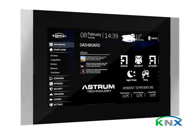 """7"""" / 10"""" in Wall Touch Panel with KNX and Smart Home Visualization Software"""