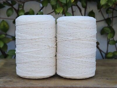 macrame cord 3mm 800m 2kg string rope cotton natural beige australian seller