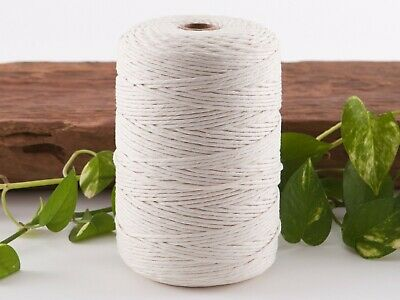macrame cord 3mm 400m 1kg string rope cotton natural beige australian seller