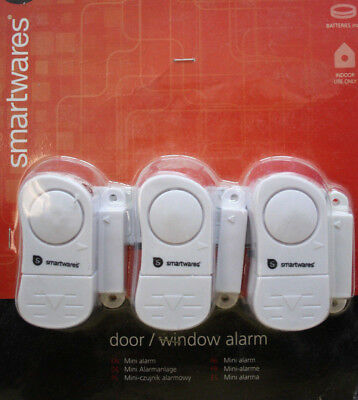 SMARTWARES SC07/3 Fensteralarm Türalarm Mini Alarmanlage door window alarm 95dB