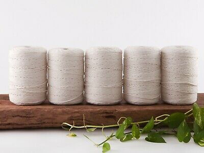 2.5mm macrame cord natural string 1 ply cotton single strand beige rope bulk