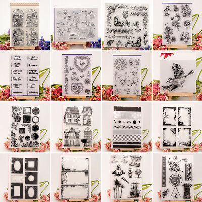 Creative Silicone Transparent Clear Stamp Seal Sheet Scrapbook Album Card Decor