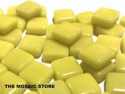 Citrus Yellow Gloss Glass Tiles 1cm for Mosaic Art Craft Supplies