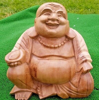 Stunning Hand Carved Wooden Buddha - Large