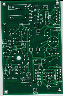 STEREO TDA7294/12AU7 CHIP/VALVE hybrid power audio amplifier module pcb  only