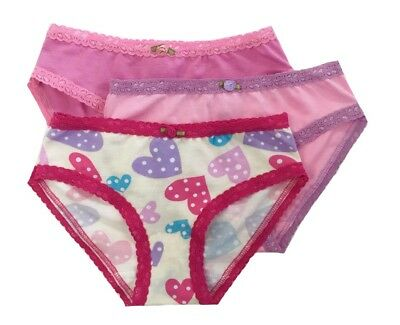 Esme Girls Comfortable Underwear PT 14-16  Panty Confetti Hearts bold clearance