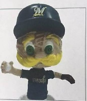 Bernie Brewer Milwaukee Brewers Stitch N Pitch Mini Bobblehead 2018 Sga