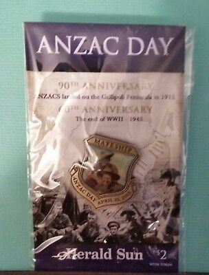 1 X Herald Sun Mateship Anzac Day April 25Th 2005 Brand New