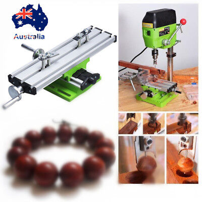 Multifunction Milling Machine Fixture Adjustment 2Axis Bench Drill Work Table AU