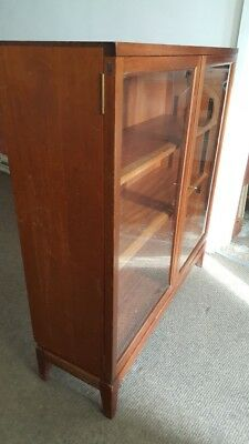 "Oak Glazed Collectors Display Book Case Cabinet with Shelves H - 3' 2"" x W - 3'"