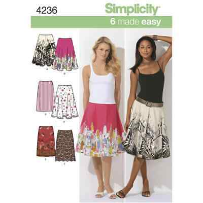 Simplicity Sewing Pattern 4236 Misses Skirts