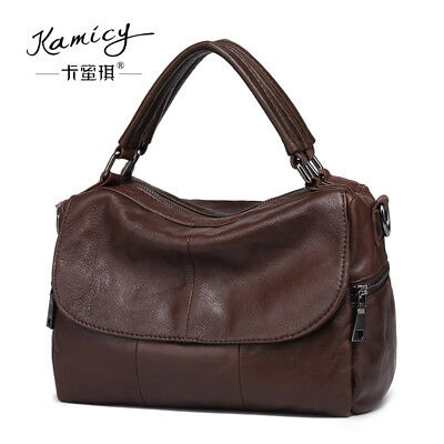 642d7f9031be Kamicy Women s Bag Real Leather Shoulder Bag Satchel Cross Body Tote Handbag