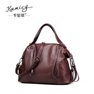 Kamicy 100% Leather Ladies inclined Shoulder Bag Satchel Cross Body Tote  Handbag 6cb1280239d46