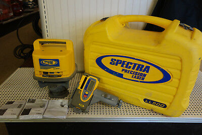 Trimble Spectra Precision LL500 Rotary Laser Level w/ HR550 Receiver