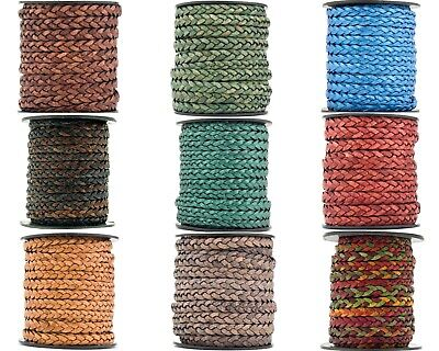 Xsotica® Flat Braided Leather Cord 5mm 1 Yard