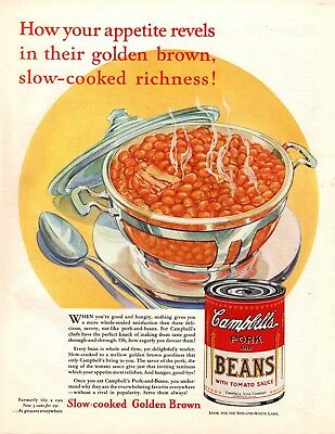1932 Magazine Ad Campbell's Pork And Beans Advertisment  A178