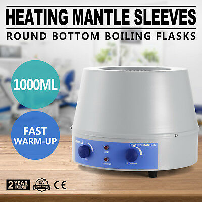 1000ml Thermostatic  Heating Mantle Sleeves Magnetic Stirrer 380℃ Lab Control