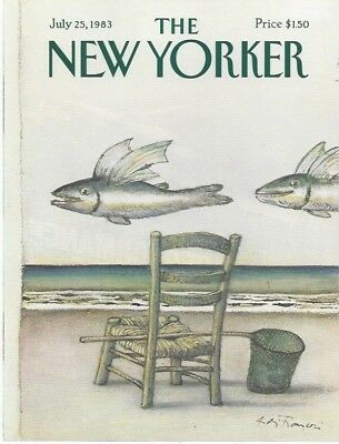 The New Yorker magazine COVER ONLY ~ Andre Francois ~ July 25, 1983 ~Flying Fish