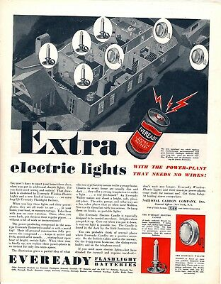 1932 Magazine Ad Eveready Flashlight Batteries Advertisment  A187