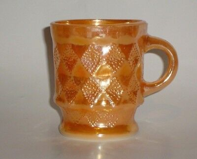 Vintage Anchor Hocking Fire King Peach Luster Kimberly Coffee Mug C Handle