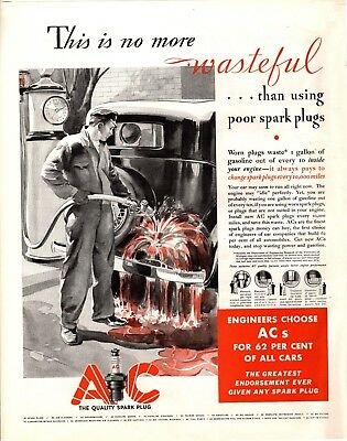 1932 Magazine Ad Ac Spark Plugs Advertisment  A189