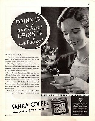 1932 Magazine Ad Sanka Coffee Advertisment  A193