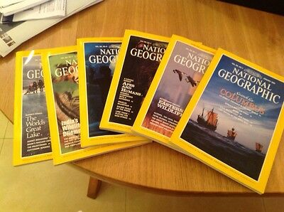 NATIONAL GEOGRAPHIC MAGAZINE  January- June 1992   6 MONTHS