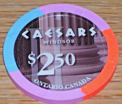 $2.50 Gaming Chip From Caesars Casino Ontario
