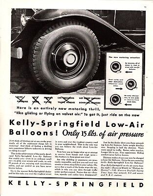 1932 Magazine Ad Kelly-Springfie:d Ballons Tires Advertisment  A196