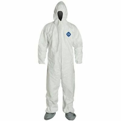 Dupont Ty122 Tyvek Coveralls W/hood & Boot Sizes Md-4X Free Ship