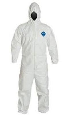 Dupont Ty127 Bunny Suit Tyvek Coveralls With Hood Md-4X