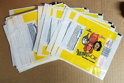 (30) Pacific Trading Cards 1990 Wizard Of Oz Wrappers Flattened