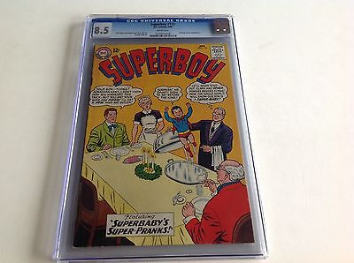 Superboy 112 Cgc 8.5 White Pages Superbaby Ad For Hawkman 1 Curt Swan Dc Comics