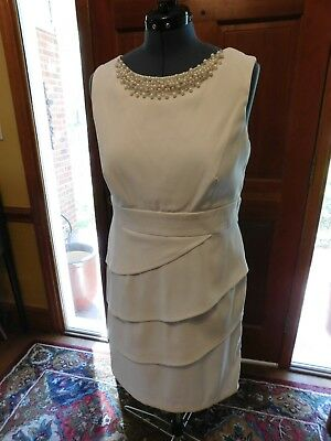 Beautiful White Mother-Informal Wedding-Special Occasion Dress Stretch Poly S 16